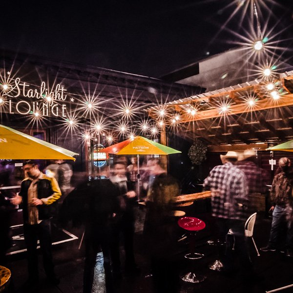Enjoy Eugene's Best Happy Hours on Starlight Lounge's Back Patio